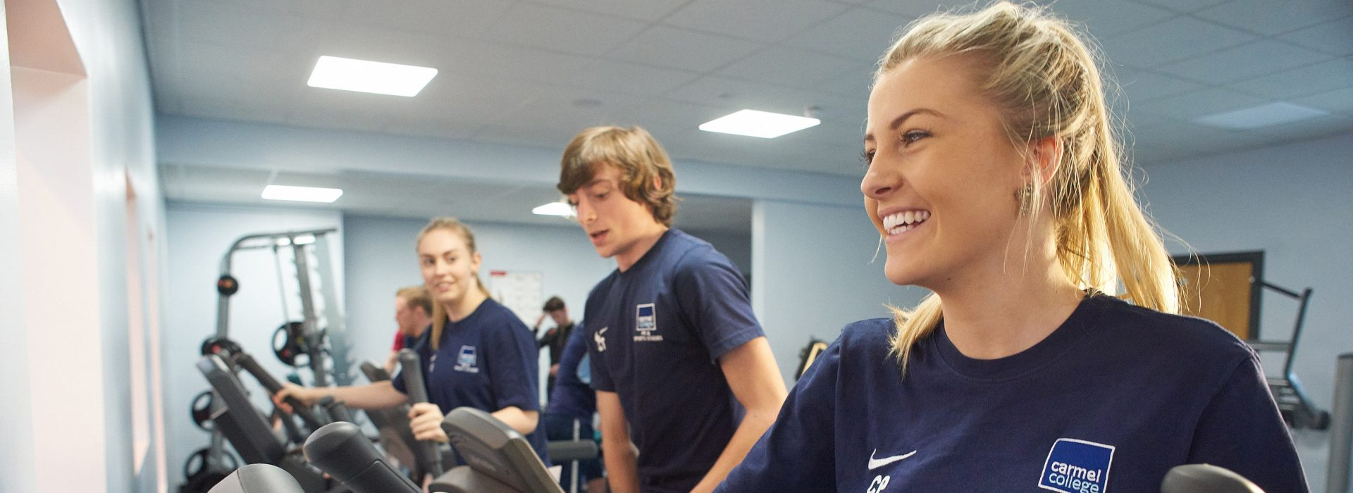 BTEC Sport students in the gym