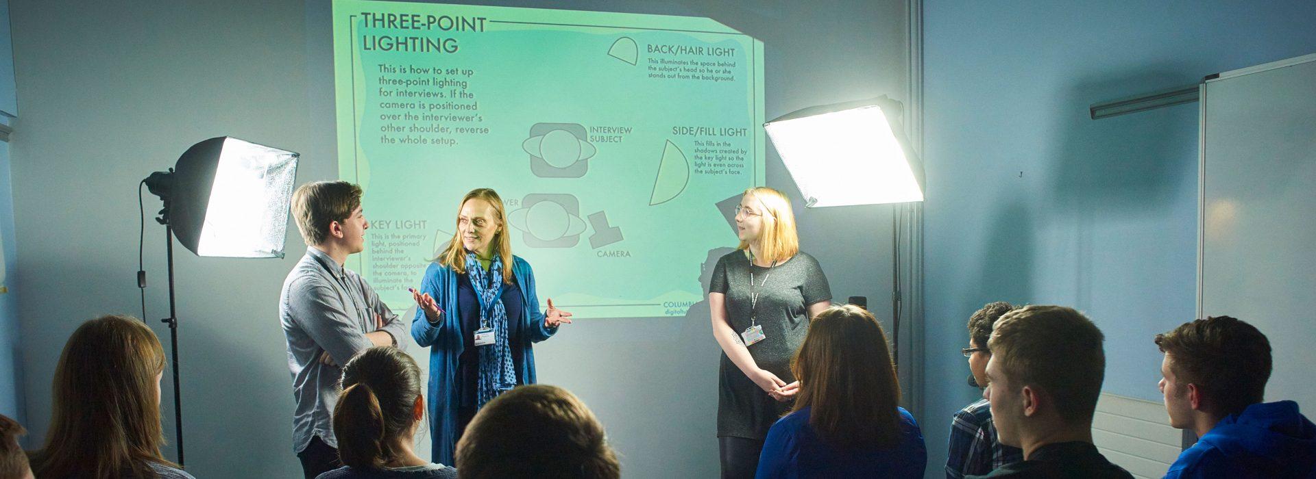 A level Media Studies presentation by students