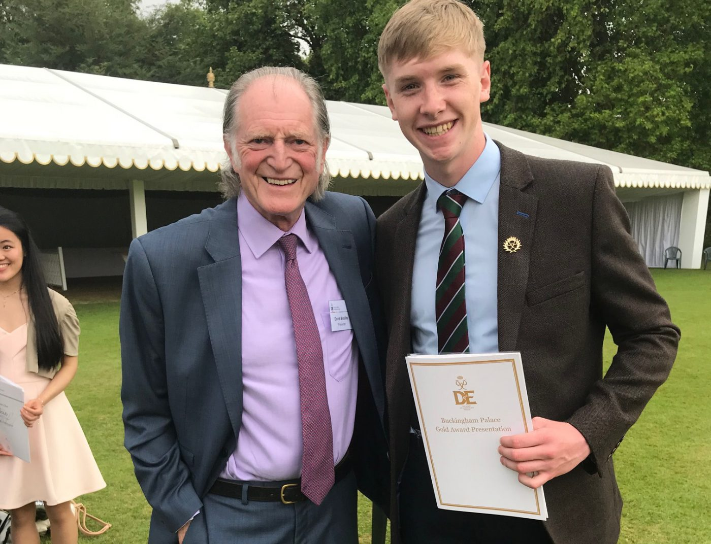Former student receives DofE award at Buckingham Palace