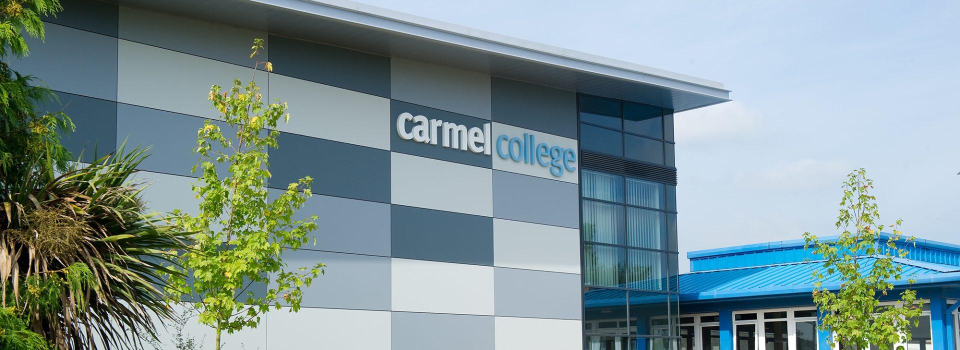 Front of Carmel College building entrance