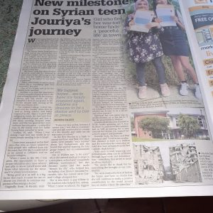 Carmel College , Jouriyas's journey from Syria to UK